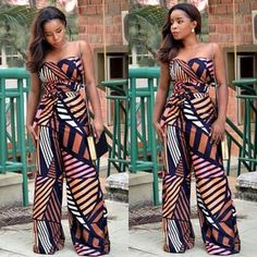 Latest Ankara Jumpsuit To Try in October - Fashion Ruk African Inspired Fashion, African Print Fashion, Africa Fashion, African Fashion Dresses, Ankara Fashion, African Attire, African Wear, African Women, African Dress