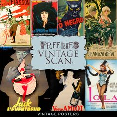 New Freebies Kit of Vintage Posters:Far Far Hill - Free database of digital illustrations and papers Digital Paper Freebie, Digital Scrapbooking Freebies, Jeanne Moreau, Vintage Labels, Vintage Posters, Vogue Vintage, Far Hills, Veuve, Digital Collage