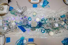 Frozen theme - winter wedding - turquoise - silver - blue - metallics - blue LED - decor by High Gloss Weddings - www.highglossweddings.com Wedding Turquoise, Design Palette, Frozen Theme, Bridal Show, Ecommerce Hosting, High Gloss, Wedding Decorations, Led, Weddings