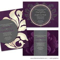 plum wedding invites