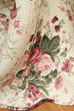 Chinese Rose Chic Shabby Cotton Quilt