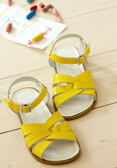 Have you guys ever heard of Salt Water sandals? I LOVE them! So comfortable and CUTE! They come in both children and adult sizes and in EVERY color! I know I'll be living in my four pairs this summer! -Kiara