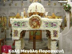 The 10 Most Beautifully Decorated Epitaphs of Greek Easter Orthodox Easter, Crucifixion Of Jesus, Greek Easter, Religious Images, Flower Arrangements, Projects To Try, Beautiful, Quotes Motivation, Jerusalem