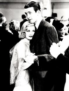 Ginger Rogers and Jimmy Stewart in Vivacious Lady (1938)