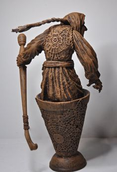 Baba Yaga the Russian Witch Sculpture by Dellamorteco on Etsy