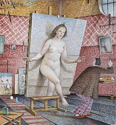 Auseklis BAUŠKENIEKS | Latvian | Jelgava, Latvia 1910—Riga, Latvia 2007.  The Lady from the Painting,  1998