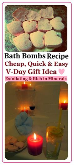 DIY spa Heart Bath Bombs Recipe, How to Make spa Products CHEAP, EASY & QUICK! More Spa DIYs on www.MariaS Homemade Gift Idea for Saint Valentine's Day, Birthday, Mother's Day or home design room design design decorating Diy Spa, Cheap Bath Bombs, Valentine Crafts, Valentines, Valentine Ideas, Diy Gifts For Mothers, Bath Bomb Recipes, Lush Products, Beauty Products