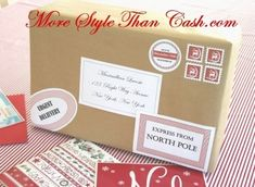 Santa Labels and Stamps from the North Pole - Free Printables