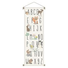 Alphabet Forest Animals Canvas Wall Banner : Target