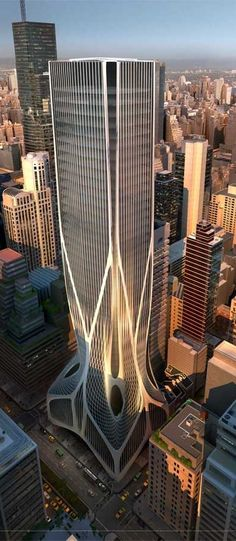 425 Park Avenue Tower, New York City by Zaha Hadid Architects :: 40 floors :: competition entry