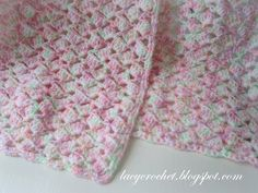 Lacy Crochet: Summer Baby Blanket in Variegated Yarn, Free Pattern