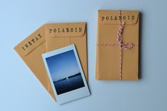 These cute, small, manilla envelopes are the perfect size to fit your instax…