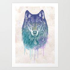 I Dream of Wolf Art Print by Rachel Caldwell - $19.00