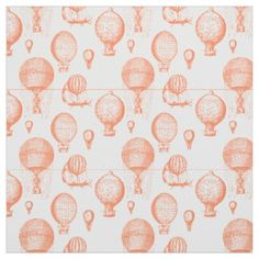 Vintage Hot Air Balloons in Coral