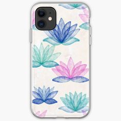 Marble Iphone Case, Canvas Prints, Art Prints, Floral Watercolor, Lotus, Stationery, My Arts, Iphone Cases, Corner