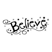believe wall decal handwritten
