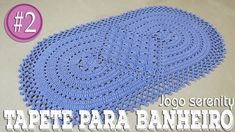 "TAPETE PARA A PIA - JOGO DE BANHEIRO SERENITY #2 ""Soraia Bogossian - Mun... Crochet Kitchen, Crochet Home, Crochet Motif, Crochet Designs, Crochet Doilies, Free Crochet, Crochet Patterns, Crochet Table Mat, Crochet Crocodile Stitch"