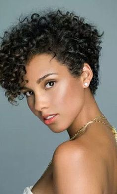 Natural Hair Short Cuts, Tapered Natural Hair, Short Hair Cuts, Natural Hair Styles, Curly Pixie Hairstyles, Haircuts For Curly Hair, Curly Hair Tips, Hot Hair Styles, Curly Hair Styles