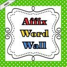 I use these labels to create a word wall that we add to all year long as we learn new words and affixes.  If you find a common suffix or prefix you...