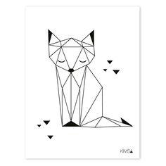 Poster Origami Vos 30x40cm