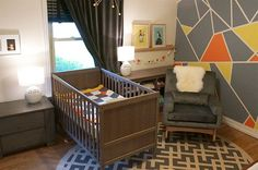 Project Nursery - Modern Nursery with Graphic Gray Wallpaper - Project Nursery