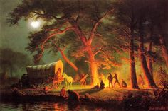 Albert Bierstadt Oregon Trail painting for sale, this painting is available as handmade reproduction. Shop for Albert Bierstadt Oregon Trail painting and frame at a discount of off. Nocturne, Albert Bierstadt Paintings, History Books For Kids, Carl Spitzweg, Hudson River School, Covered Wagon, Oregon Trail, Le Far West, Western Art