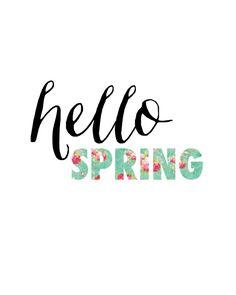 Easter & Spring FREE Printables: Hello Spring FREE Printable!