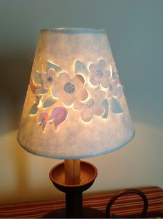 Cut and pierced lampshade