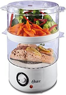 Oster Double Tiered Food Steamer, 5 Quart, White (CKSTSTMD5-W-015) kitchen electronic#home appliances#food steamer A Food, Good Food, Yummy Food, Fish Food, Delicious Meals, Electric Food Steamer, Steam Recipes, Light Recipes, Best Meat