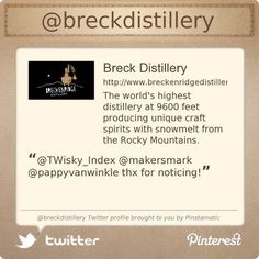Breck Distillery is on Twitter @breckdistillery's Twitter profile courtesy of @Pinstamatic (http://pinstamatic.com)