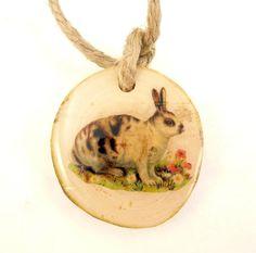 1 Rustic or Primitive Vintage Rabbit Wooden by TimesNotForgotten