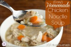 Easy Homemade Chicken Noodle Soup // AND bonus chicken stock from scratch recipe too