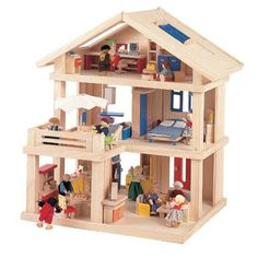 Amazon.com: Plan Toys Plan Toys Dollhouse Series Terrace Dollhouse: Toys & Games