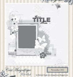 Adesigngirl's Gallery: sketch for Cest Magnifique Kits, November