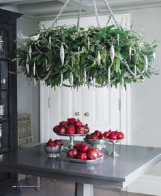 pomegranates for holiday decor