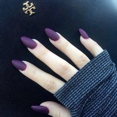 Deep purple matte nails