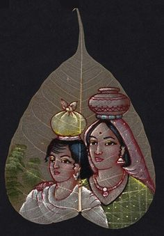 Buy exclusive handmade indian leaf paintings on www.peepleaf.com