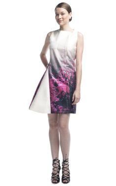 Pedro Lourenco Forest Print  Nina Garcia compartilhando vestido do Pedro Lourenço