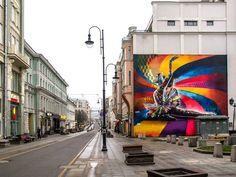 Muro pintado por Kobra em Moscou, na Rússia (Foto: Divulgação / Eduardo Kobra)
