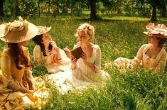 Kirsten Dunst as Marie Antoinette and her ladies in waiting.