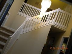 Wood Stairs and Rails and Iron Balusters: Custom Stair Replacement Doylestown PA