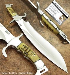 IMPACT CUTLERY RARE CUSTOM SASQUATCH BOWIE KNIFE FULL TANG RAM HORN   Collectibles, Knives, Swords & Blades, Collectible Fixed Blade Knives   eBay!