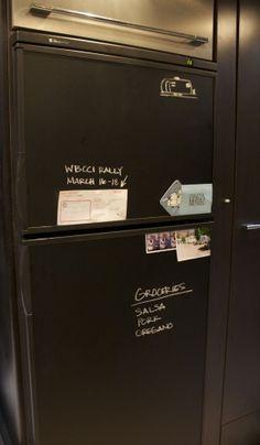 Great idea for the RV Kitchen: Chalkboard Vinyl!