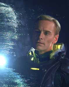 """Prometheus (2012): Thank God (or is that the Space Jockeys — sorry, Engineers?) for Michael Fassbender. His performance elevates the film: a multi-faceted reboot of the requisite android. David is a smart link in the thematic chain — a creation of our making x x x ~ Ian Nathan"""