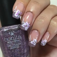Flowers by Yagala – Nail Art Gallery nailartgallery.na… by Nails Magazine www…. Flowers by Yagala – Nail Art Gallery nailartgallery. Pretty Nail Designs, Colorful Nail Designs, Nail Art Designs, Fancy Nails, Pretty Nails, Fingernail Designs, French Tip Nails, French Tips, Instagram Nails