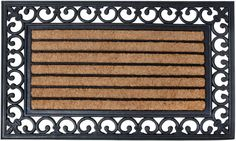 15,- Deurmat Klassiek Victoriaans - 75x45 - Kokos-Rubber - Esschert Design