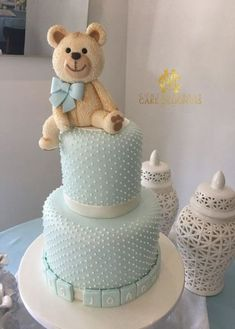 Trendy Baby Shower Brunch Outfit Ideas #babyshower #baby Baby Shower Cakes For Boys, Baby Boy Cakes, Baby Shower Brunch, Baby Shower Parties, Baby Boy Shower, Baby Shower Gifts, Teddy Bear Cakes, Baby Shower Dresses, Shower Outfits