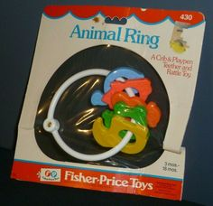 Items similar to Vintage Fisher Price Baby Rattle 1976 Teething Ring Animal # 430 New and Sealed on Etsy Fisher Price Toys, Vintage Fisher Price, Retro Baby, Animal Rings, Preschool Toys, Baby Rattle, Toys R Us, Teething, Free Items