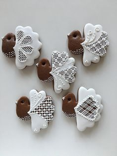 Gingerbread Cookies, Christmas Cookies, Fancy Desserts, Biscuit Cookies, Royal Icing, Winter Christmas, Frosting, Goodies, Food And Drink