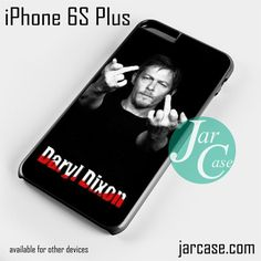 Norman Rreedus as Daryl Dixon Middle Finger - Z Phone case for iPhone 6S Plus and other devices